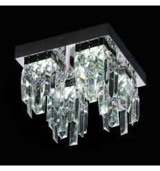 Crystal Ceiling Light - LED Chromed Vienna