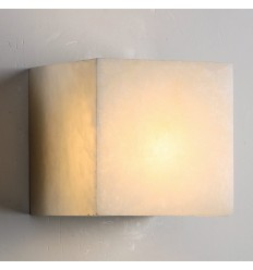 White LED wall light with soft glow - Squared Louka