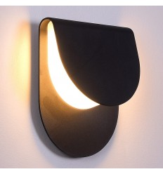 Smart and discreet LED wall light - Black Crépuscule