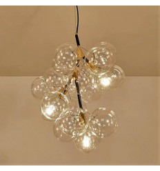 Transparent spheres cluster pendant light - Florence
