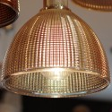 Glass and copper textured pendant light - Arneb